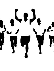 Недорогие -Люди Спорт Наклейки Простые наклейки Декоративные наклейки на стены, Винил Украшение дома Наклейка на стену Окно Стена
