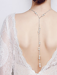cheap -Imitation Pearl Imitation Pearl Body Chain - Women's Silver Classic Vintage Elegant Body Jewelry For Wedding Party