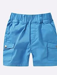 preiswerte -Jungen Shorts Solide Sommer Blau Grün Rote Gelb