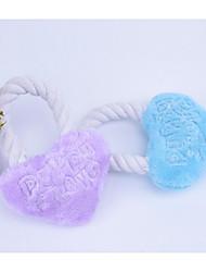 Недорогие -Жевательные игрушки для кошек Жевательные игрушки для собак Подходит для домашних животных Портативные Мультфильм игрушки Сердце Фланель
