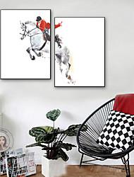 baratos -Pessoas Animais Ilustração Arte de Parede,PVC Material com frame For Decoração para casa Arte Emoldurada Sala de Estar Interior