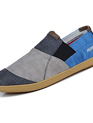 靴 キャンバス 春 秋 コンフォートシューズ ローファー&スリップアドオン のために カジュアル グレー Brown レッド
