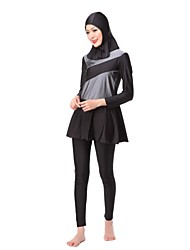 abordables -Mujer Burkini Bloques Slips Con Tirantes