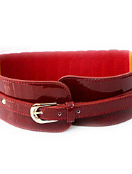 cheap -Women's Genuine Leather Waist Belt,Wine Black Casual
