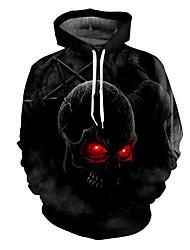 cheap -Men's Plus Size Long Sleeves Hoodie - Print Hooded