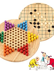 Недорогие -Шахматы Игрушки Круглый Семья Взаимодействие родителей и детей деревянный Девочки Мальчики Подарок 130pcs