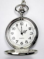 Недорогие -Для пары Часы со скелетом Карманные часы Кварцевый Серебристый металл С гравировкой Повседневные часы Аналоговый Дамы Роскошь На каждый день Череп - Серебряный