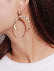 cheap -Women's Star Cubic Zirconia Drop Earrings - Vintage Statement Fashion Moon Star For Party Gift Evening Party Street