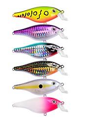 preiswerte -6 Stück Angelköder Kurbel Harte Fischköder Kunststoff Outdoor Seefischerei Bootsangeln / Schleppangelfischen Spinnfischen