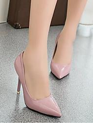 preiswerte -Damen Schuhe PU Frühling Herbst Pumps High Heels Stöckelabsatz Spitze Zehe für Draussen Weiß Rot Rosa