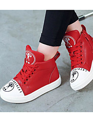cheap -Girls' Shoes PU Spring Fall Comfort Sneakers for Casual Pink Red Black