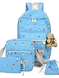Недорогие -Жен. Мешки Полиэстер / холст рюкзак Узоры / принт / Молнии для Путешествия Темно-синий / Лиловый / Небесно-голубой