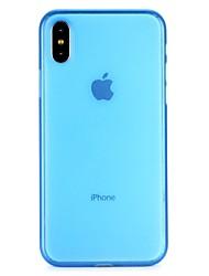 abordables -Coque Pour Apple iPhone 6 iPhone 7 Translucide Coque Intégrale Couleur unie Transparente Flexible PC pour iPhone X iPhone 8 Plus iPhone 8