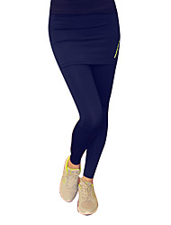 abordables -Mujer Pantalones ajustados de running - Negro, Gris, Azul Marino Oscuro Deportes Un Color Pantalones / Sobrepantalón / Leggings Ropa de