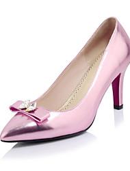 economico -Per donna Scarpe Vernice Primavera / Estate Comoda / Decolleté Tacchi A stiletto Appuntite Con diamantini / Fiocco Fucsia / Verde / Rosa