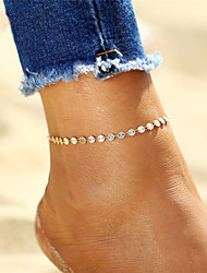 cheap -Bohemian Silver Plated / Gold Plated Anklet / Ankle Bracelet - Women's Gold / Silver Bohemian / Fashion Circle Anklet For Gift / Bikini /