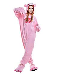 cheap -Adults' Kigurumi Pajamas Raccoon / Bear / Gloomy Bear Onesie Pajamas Costume Polar Fleece / Synthetic Fiber Pink Cosplay For Animal Sleepwear Cartoon Halloween Festival / Holiday
