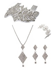 cheap -Women's Jewelry Set - Imitation Diamond European, Fashion Include Hair Combs / Bridal Jewelry Sets White For Wedding / Party