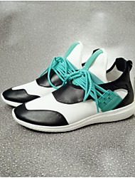 Недорогие -Жен. Обувь Полиуретан Лето Удобная обувь Кеды На плоской подошве Закрытый мыс для Повседневные на открытом воздухе Черный Зеленый