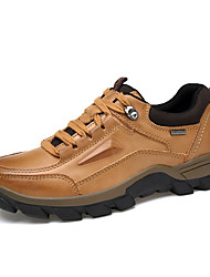 cheap -Men's Shoes Leather Winter Spring Comfort Athletic Shoes for Casual Light Brown Dark Brown