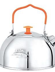 Недорогие -Походный чайник 1 Легкость Простота установки Нержавеющая сталь на открытом воздухе за Пешеходный туризм Походы титан