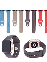 abordables -Bracelet de Montre  pour Apple Watch Series 3 / 2 / 1 Apple Boucle Moderne Silikon Sangle de Poignet