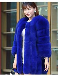 cheap -Women's Cotton Coat - Solid Colored / Winter