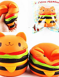 cheap -LT.Squishies Squeeze Toy / Sensory Toy Stress Relievers Round Cat Emoji Hamburger Animal Office Desk Toys Stress and Anxiety Relief