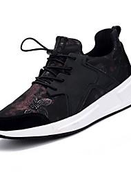 abordables -Chaussures Polyuréthane Similicuir Printemps Automne Confort Chaussures d'Athlétisme pour Athlétique Décontracté Noir et Or Preto e