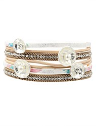 cheap -Women's Pearl Leather Bohemian 1pc Wrap Bracelet - Casual Bohemian Sweet , White Bracelet For Going out Holiday