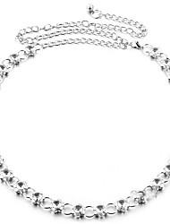 cheap -Women's Gold Waist Belt,White Gold Casual