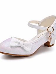 Недорогие -Девочки Обувь Лак / Полиуретан Весна / Осень Удобная обувь / Детская праздничная обувь / Крошечные Каблуки для подростков Обувь на каблуках для Золотой / Белый / Розовый