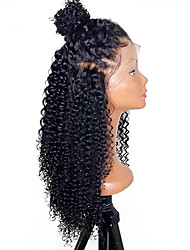 cheap -Human Hair Lace Front Wig Brazilian Hair Straight Kinky Curly 130% Density Unprocessed 100% Virgin African American Wig Natural Hairline