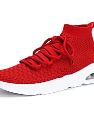 economico -Per donna Scarpe A maglia Primavera / Estate Comoda Sneakers Piatto Nero / Grigio / Rosso