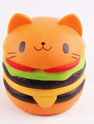 cheap -LT.Squishies Squeeze Toy / Sensory Toy Food&Drink / Cat / Hamburger Office Desk Toys / Stress and Anxiety Relief / Decompression Toys