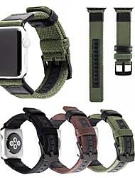 abordables -Bracelet de Montre  pour Apple Watch Series 4/3/2/1 Apple Boucle Moderne Nylon / Vrai Cuir Sangle de Poignet