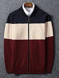 economico -Per uomo Semplice Manica lunga Cardigan Monocolore Rotonda