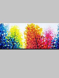 economico -Hang-Dipinto ad olio Dipinta a mano - Paesaggi Semplice Modern Tela