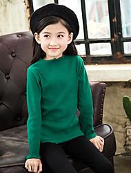 economico -Maglione e cardigan Da ragazza Cotone Tinta unita Inverno Verde Rosa Giallo