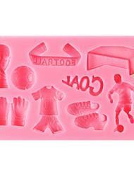 Недорогие -футбол помадной торт плесень, l10cm * w6.2cm * h1cm см-299