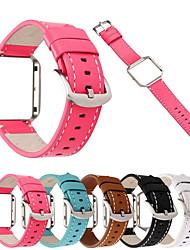 abordables -Bracelet de Montre  pour Fitbit Blaze Fitbit Boucle Classique Vrai Cuir Sangle de Poignet