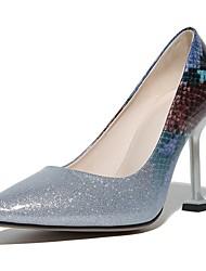 preiswerte -Schuhe Denim Jeans maßgeschneiderte Werkstoffe Kunstleder Frühling Sommer Neuheit Pumps High Heels Stöckelabsatz für Hochzeit Party &