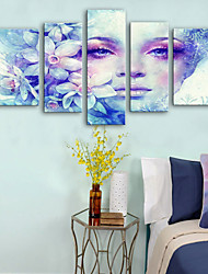 preiswerte -Leinwanddruck Rustikal Modern, Fünf Panele Segeltuch Vertikal Druck Wand Dekoration Haus Dekoration