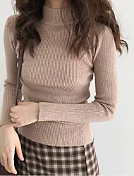 Недорогие -Жен. Длинный рукав Пуловер С принтом Хомут