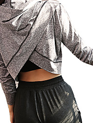 cheap -Women's Hoodie Long Sleeves Quick Dry Breathability Super Slim Top for Cheerleader Costumes Running Mountain Bike/MTB Jogging Cotton