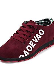 billiga -Herr PU Vår / Höst Komfort Sneakers Grå / Blå / Vinröd