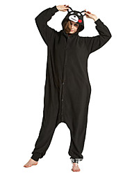 abordables -Pyjamas Kigurumi Animé Ours Combinaison de Pyjamas Costume Flanelle Toison Noir Cosplay Pour Enfant Adulte Pyjamas Animale Dessin animé