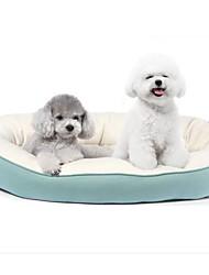 preiswerte -Hunde Katzen Betten Haustiere Einsätze Solide Warm Grau Grün Blau Rosa Für Haustiere