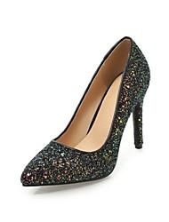preiswerte -Damen Schuhe Paillette maßgeschneiderte Werkstoffe Frühling Herbst Pumps High Heels Stöckelabsatz Spitze Zehe Paillette für Hochzeit
