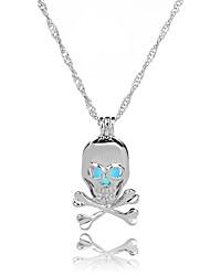 cheap -Men's Women's Skull Fashion European Pendant Necklace , Luminous Stone Alloy Pendant Necklace , Halloween Gift